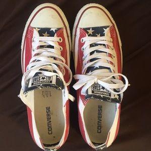 Converse all star ox sz 9 M 11 W USA colorway